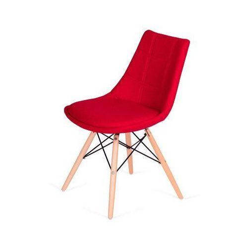 King home Krzesło fabric czerwone - wełna (5900168806894)