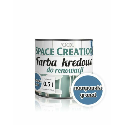Space Creation farby - Farba do renowacji Intense - marynarski granat 0,5l (5906874753842)