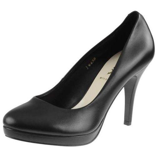 Czarne czółenka szpilki 9438 - czarne 08 (czarny spód) marki Sala
