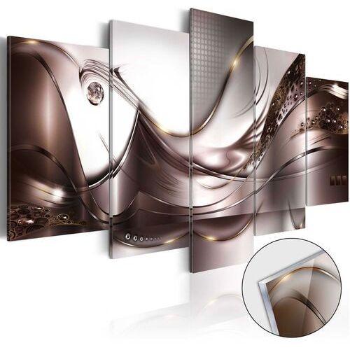Obraz na szkle akrylowym - Złoty sztorm [Glass]
