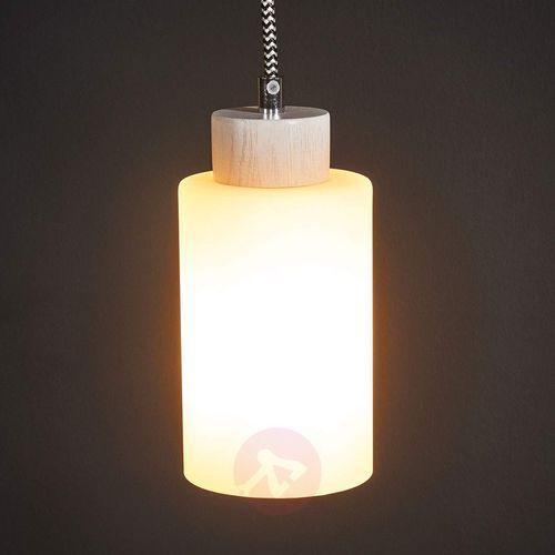 Spot-light bosco lampa wisząca dąb bielony/czarno-biały 1xe27-60w 1714132 (5901602337691)