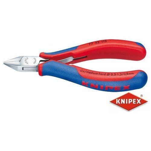 KNIPEX Obcinaczki boczne dla elektroników 115mm, dwukomponentowe (77 42 115)