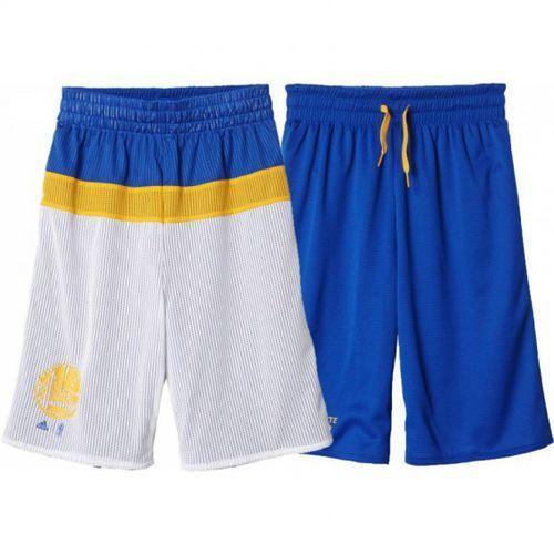 Spodenki koszykarskie dwustronne  nba golden state warriors junior wyprodukowany przez Adidas