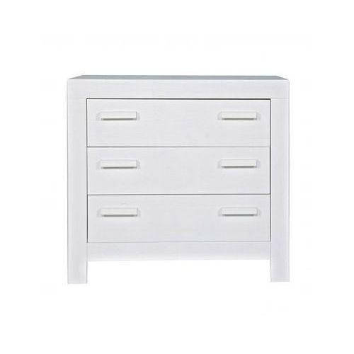 :: komoda z szufladami new life vintage biała - new life biała marki Woood