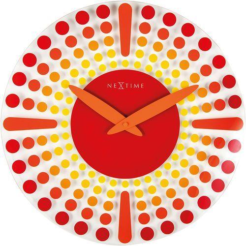 Zegar ścienny dreamtime 43 cm, czerwony (8182 ro) marki Nextime