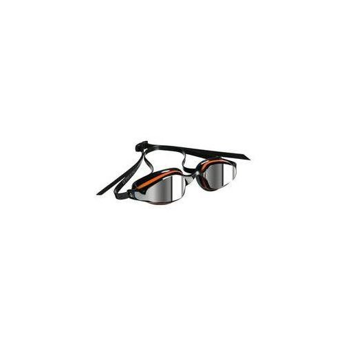 Męskie okulary pływackie k180+ mirrored czarne/pomarańczowe marki Michael phelps aqua sphere