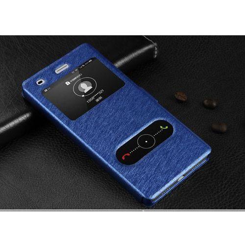 Skórzane etui z klapką - Samsung Galaxy S6 (niebieskie) - Niebieski \ Samsung Galaxy S6