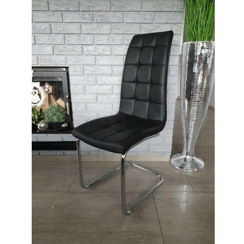 Big meble Krzesło tapicerowane ekoskóra czarne big 027 dostawa 0zł