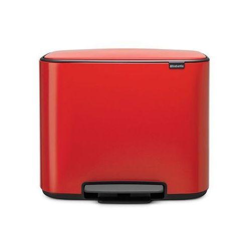 Brabantia - Kosz pedałowy Bo 11+23 l - czerwony - czerwony (8710755121166)
