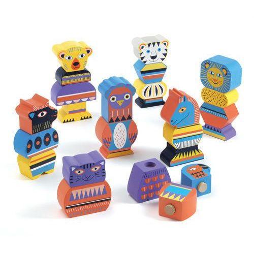 Klocki drewniane Djeco 21 elementów - Ze Tribu DJ06430, DJ06430