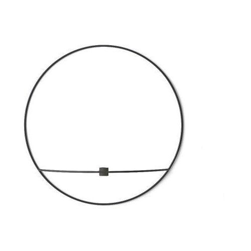 Świecznik POV Circle ścienny na świeczkę, L, czarny - Menu, 4812539