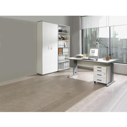 Wellemöbel Jack - kompletne biuro, biurko, kontener na kółkach, regał, biały. atrakcyjny w