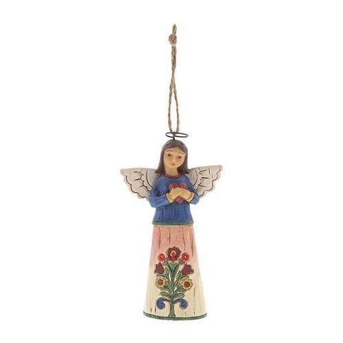 Jim shore Anioł z sercem zawieszka folklore angel with heart (hanging ornament) 6001455