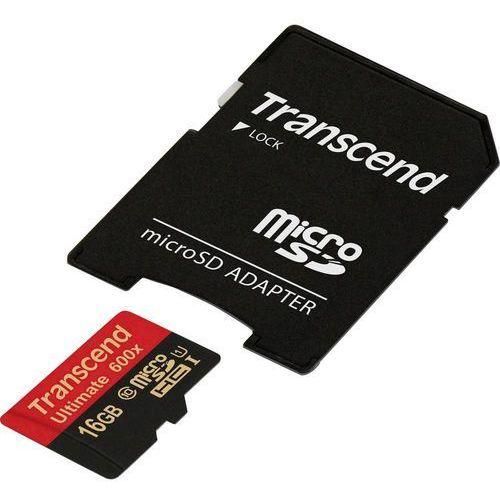 Karta pamięci microSDHC Transcend TS16GUSDHC10U1, 16 GB, Class 10, UHS-I, 90 MB/s