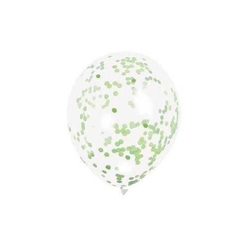 Unique Balony przezroczyste z konfetti w środku - 30 cm - 6 szt. (0011179581191)