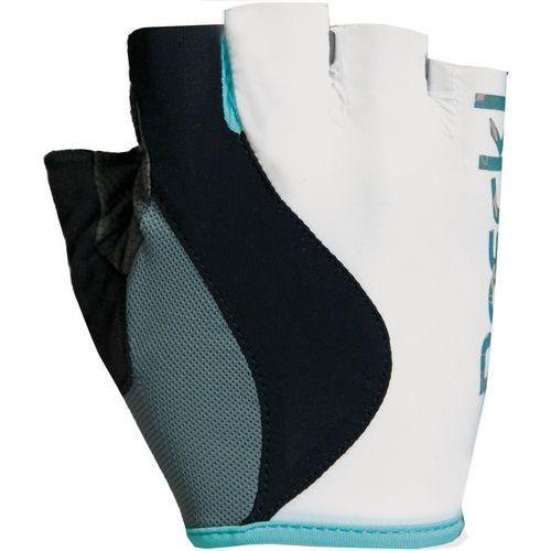 Roeckl delia rękawiczka rowerowa kobiety biały/turkusowy 7 2018 rękawiczki szosowe