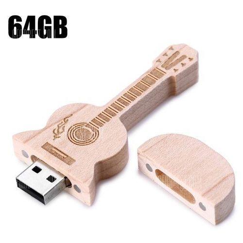 Gearbest Wood guitar style 64gb usb 2.0 flash drive memory stick u disk