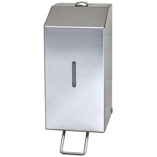 Pojemnik na mydło ze stali nierdzewnej STEEL 0.8 L Dozowniki do mydła ze stali szlachetnej, Dozowniki do mydła w płynie z nierdzewki