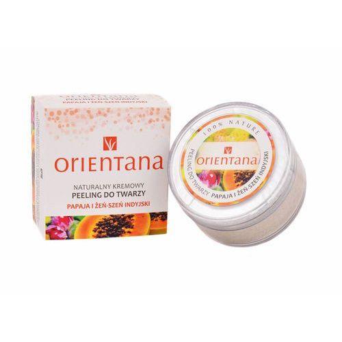 Orientana Naturalny kremowy peeling papaja i żeńszeń indyjski (5902596416324)