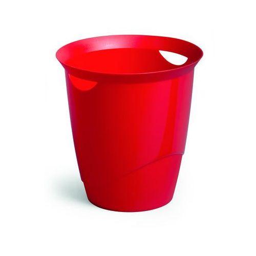 Kosz na śmieci trend czerwony (16 l.) marki Durable