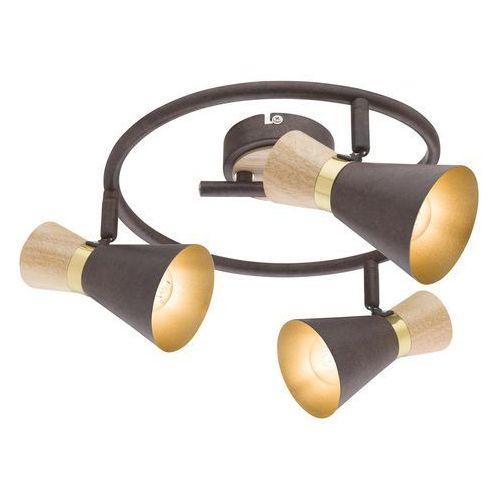 Spirala Globo Aeron 54808-3 lampa sufitowa spot 3x25W E14 złoty / rdzawy (9007371359905)