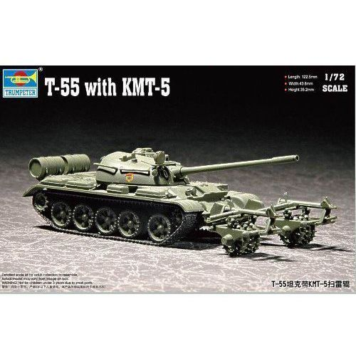 TRUMPETER T-55 with KMT- 5 - Trumpeter (9580208072838)