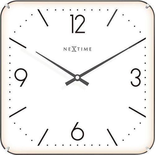 Zegar ścienny basic square dome biały marki Nextime