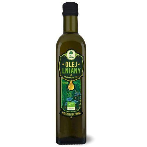 Olej lniany virgin bio 500 ml - dary natury marki Dary natury - inne bio