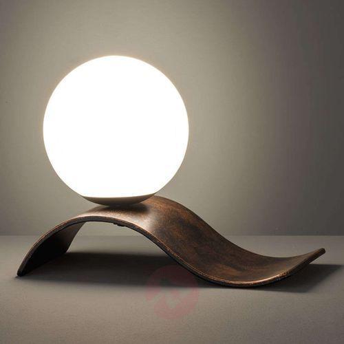 Trio leuchten Antyczna miedź – lampa stołowa lara z kulą (4017807387452)