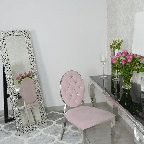 Stojące lustro glamour prostokątne 50x150 cm M-0513