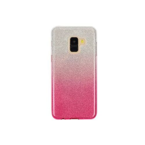 Samsung Galaxy A8 (2018) - etui na telefon Forcell Shining - różowe ombre