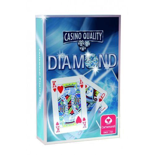 Karty do gry DIAMOND Poker linen blue Cartamundi