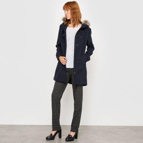 Długi płaszcz budrysówka, 50% wełny, R essentiel
