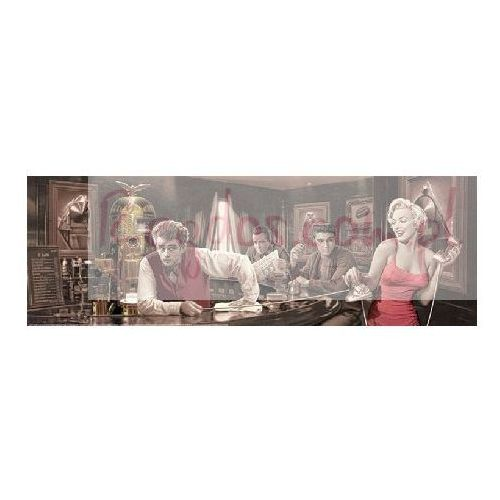Gf Marylin monroe, elvis presley, james dean - bar by chris consani - plakat, kategoria: fototapety