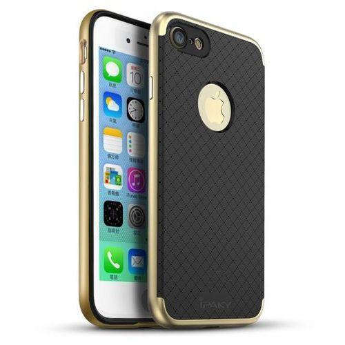 premium hybrid złoty | obudowa ochronna dla modelu apple iphone 7 plus - złoty marki Ipaky