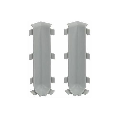 Zakończenie narożne wewnętrzne listwy cokołowej 80 mm Jasno szary 2szt Cezar (5907684636165)