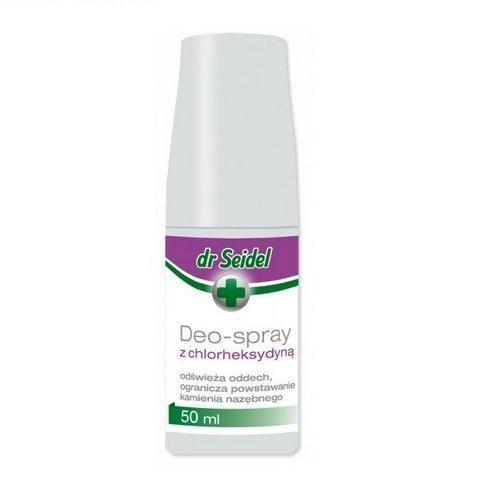 DERMAPHARM Dr Seidel Deo-Spray z chlorheksydyną do higieny jamy ustnej 50 ml