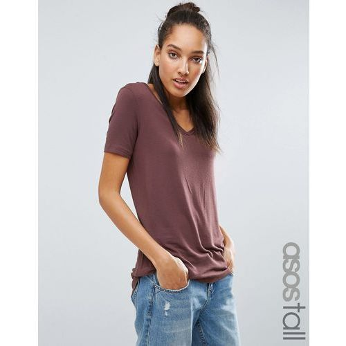 ASOS TALL The New Forever T-Shirt With Short Sleeves And Dip Back - Pink - produkt z kategorii- Pozostała moda i styl