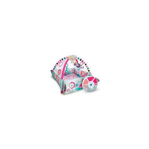 Mata edukacyjna plac zabaw s�onik pink z pi�eczkami marki Bright starts