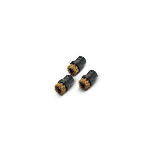 Akcesorium do parownicy KARCHER okrągłe szczotki z mosiężną szczeciną 2.863-061.0 (3 sztuki) + Zamów z DOSTAWĄ JUTRO! (4002667015577)