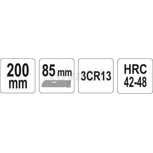 Nóż monterski składany prosty / YT-7600 / YATO - ZYSKAJ RABAT 30 ZŁ (5906083976001)