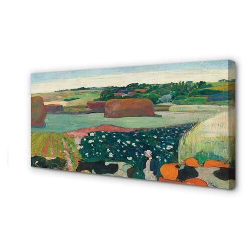 Tulup.pl Obrazy na płótnie sztuka malowany widok wiejski