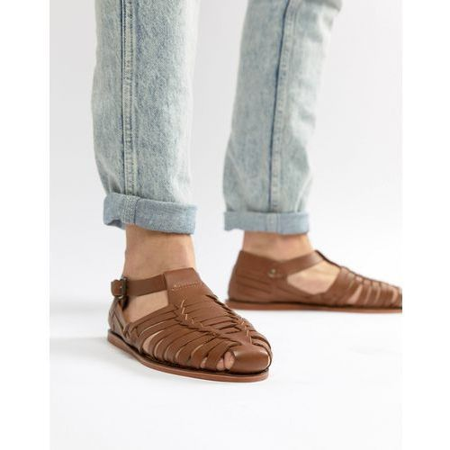 Dune Woven Sandals In Tan Leathe R - Tan