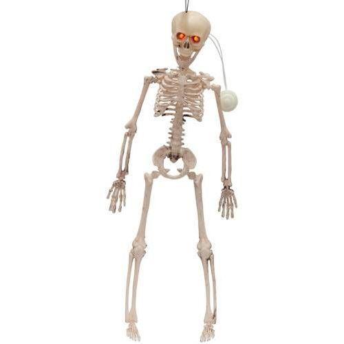 Wiszący szkielet ze świecącymi oczami - 41 cm - 1 szt. marki Prem
