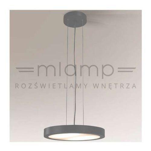 Shilo Lampa wisząca nomi 5539/2g11/sz minimalistyczna oprawa zwis okrągły szary (1000000346633)