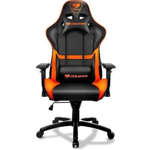 Cougar armor krzesło gamingowe - czarno-pomarańczowy - skóra pu - do 120 kg (4715302448721)