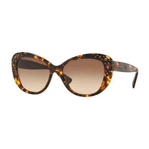 Okulary Słoneczne Versace VE4309B Crystal Charm 514813, kolor żółty