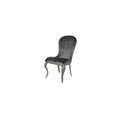 Krzesło glamour tiffany dark grey - nowoczesne krzesło tapicerowane marki Bellacasa