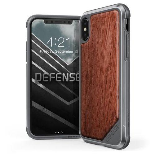 X-doria defense lux wood - etui iphone x z anodyzowanego aluminium i drewna (rosewood) (6950941460750)