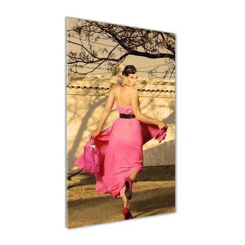 Foto obraz akryl do salonu Kobieta w różu